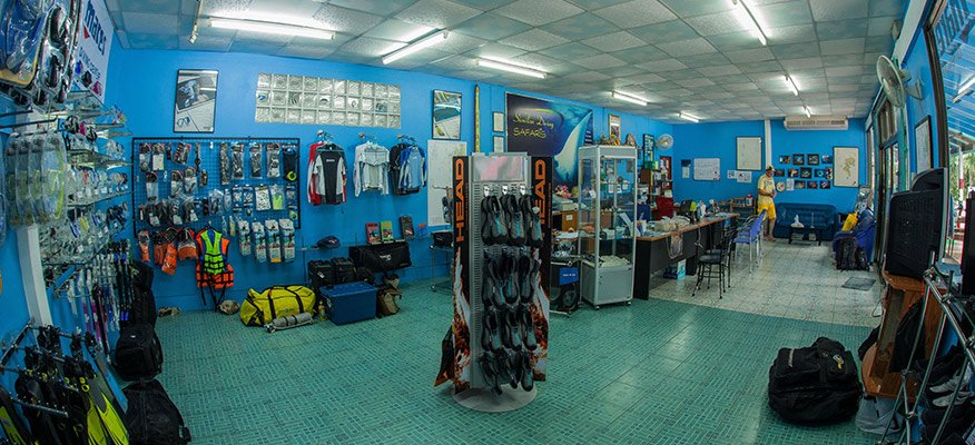 inside the dive center