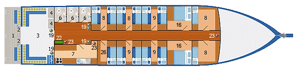 lay out main deck Dolphin Queen